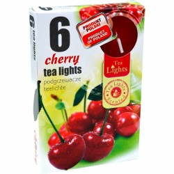 CHERRY scented tealights 6 pcs