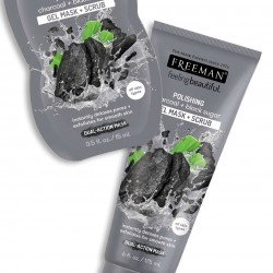 FREEMAN cleaning mask 2in1 - Charcoal & Black sugar