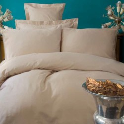 BEIGE satin bedding Issimo Home