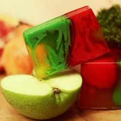 Apple and Pomegranate - natural handmade soap