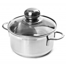 CITY stainless steel pot with lid 0.8 liters