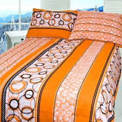 ALBERTA cotton bedding - orange