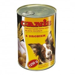 CANIS cans with poultry meat 1250 gr