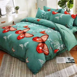 BUTTERFLIES 2 flannel bed linen