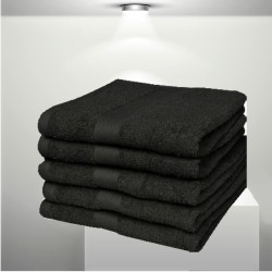 BASIC Black - terry towel, bath towel
